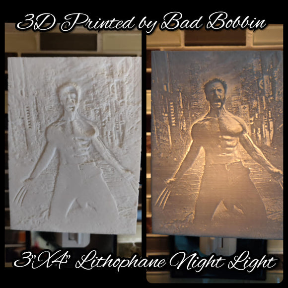Lithophane Night Light Wolverine