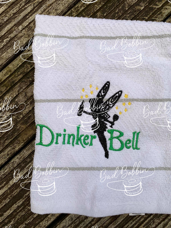 ITH Digital Embroidery Pattern for Drinker Bell 5X7 Design, 5X7 Hoop