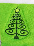 ITH Digital Embroidery Pattern for Cat Toy Curly Tree, 4X4 Hoop