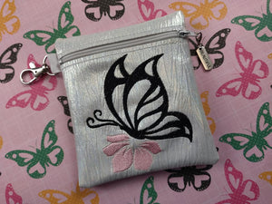 ITH Digital Embroidery Pattern for Butterfly Flowerl Cash / Card Tall 5X4.5, 5X7 Hoop