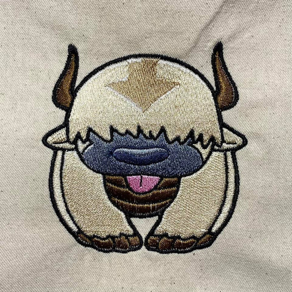 ITH Digital Embroidery Patter for Appa Avatar 4X4 Design, 4X4 Hoop