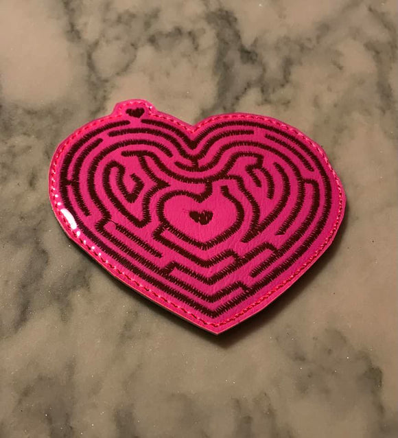 ITH Digital Embroidery Pattern for Heart Maze 4X4 Draw & Erase, 4X4 Hoop