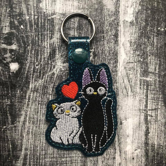 ITH Digital Embroidery Pattern for JIJI & Lily Love Snap Tab / Keychain, 4X4 Hoop