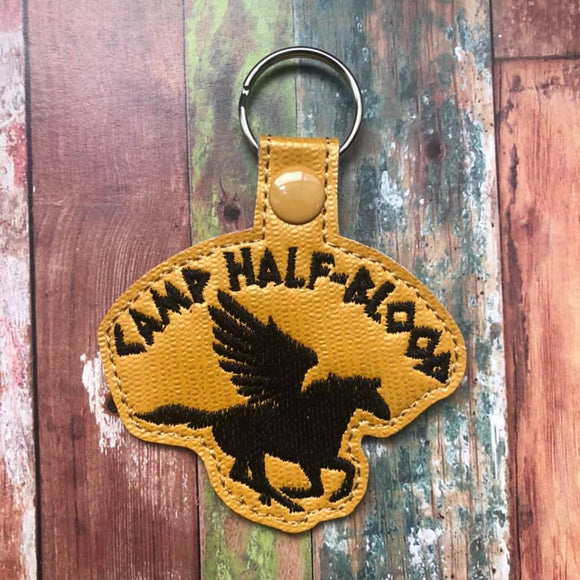 ITH Digital Embroidery Pattern for Camp Half-Blood Snap Tab / Keychain, 4X4 Hoop