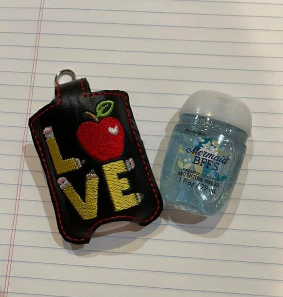 ITH Digital Embroidery Pattern for School LOVE Sanitizer Holder, 5X7 Hoop