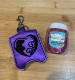 ITH Digital Embroidery Pattern for Dog Cat Heart Swirl Sanitizer Holder, 5X7 Hoop