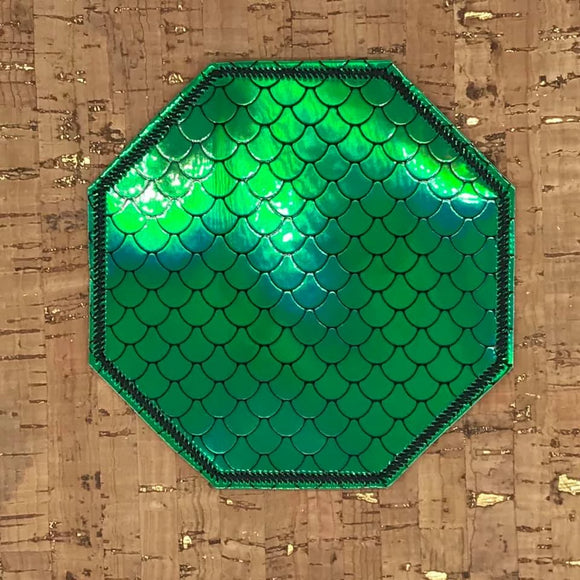 ITH Digital Embroidery Pattern for Plain Octagon Shape Coaster, 4X4 Hoop