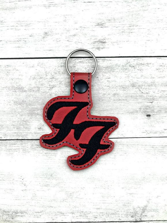 ITH Digital Embroidery Pattern for FF Band Snap Tab / Key Chain, 4X4 Hoop
