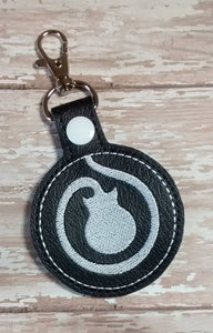 ITH Digital Embroidery Pattern for School of Rock Snap Tab / Key Chain, 4X4 Hoop