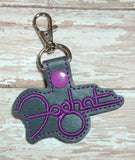 ITH Digital Embroidery Pattern for Foghat Snap Tab / Key Chain, 4X4 Hoop