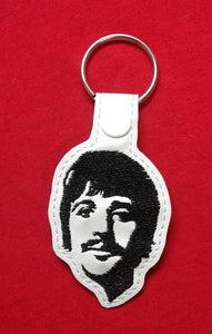 ITH Digital Embroidery Pattern for Ringo Snap Tab / Key Chain, 4X4 Hoop