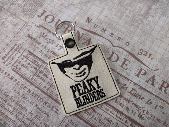 ITH Digital Embroidery Pattern For Peaky B Snap Tab / Key Chain, 4X4 Hoop