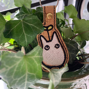 ITH Digital Embroidery Pattern For Lil Totoro Snap Tab / Key Chain, 4X4 Hoop