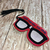 ITH Digital Embroidery Pattern For Talk Nerdy To Me Glasses Bookmark, 4X4 Hoop