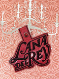 ITH Digital Embroidery Pattern for Lana D Rey Snap Tab / Key Chain, 4X4 Hoop