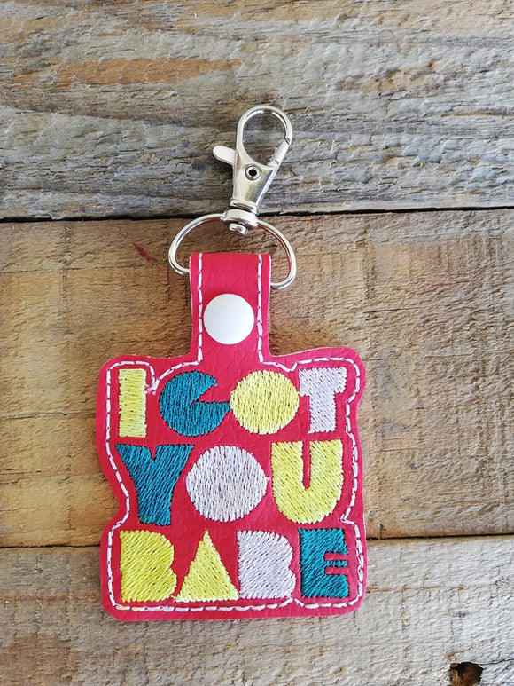 ITH Digital Embroidery Pattern For I Got You Babe Snap Tab / Key Chain, 4X4 Hoop