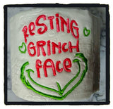ITH Digital Embroidery Pattern For Resting Meanone Face Design 4X4
