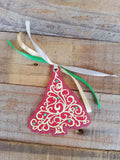 ITH Digital Embroidery Pattern for Filigree Tree Ornament, 4X4 Hoop