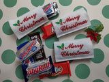 ITH Digital Embroidery Pattern For Merry Christmas Snack Size Candy Covers, 4X4 Hoop