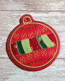 ITH Digital Embroidery Pattern For Applique Center Christmas Ornament I , 4X4 Hoop