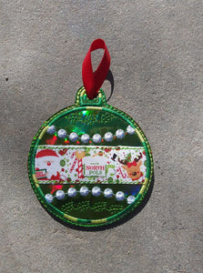 ITH Digital embroidery Pattern For Applique Center Christmas Ornament II, 4X4 Hoop
