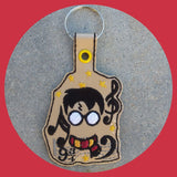 ITH Digital Embroidery Pattern for HP Musical Snap Tab / Key Chain, 4X4 Hoop