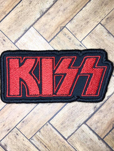 ITH Digital embroidery Pattern for KISS Patch, 4X4 - 5X7 Hoop