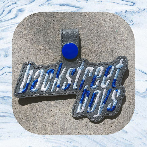 ITH Digital Embroidery Pattern For Backstreet Boys I Snap Tab / Key Chain, 4X4 Hoop