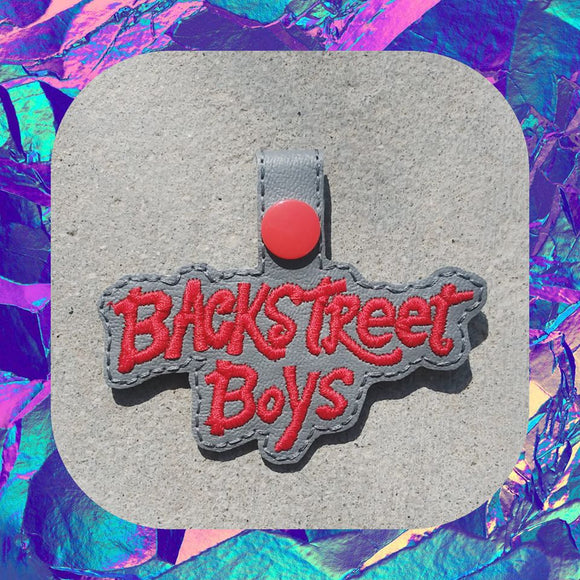 ITH DIgital Embroidery Pattern For Backstreet Boys II Snap Tab / Key Chain, 4X4 Hoop