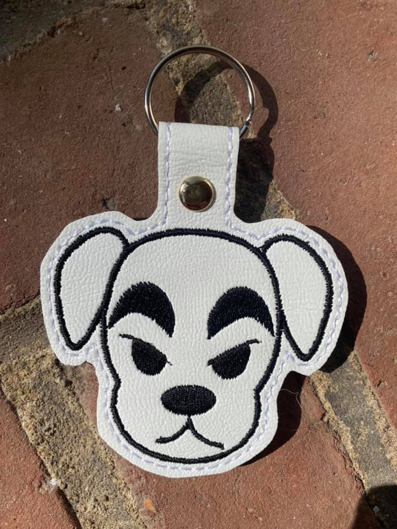 ITH Digital Embroidery Pattern For AC KK Snao Tab / Key Chain, 4X4 Hoop