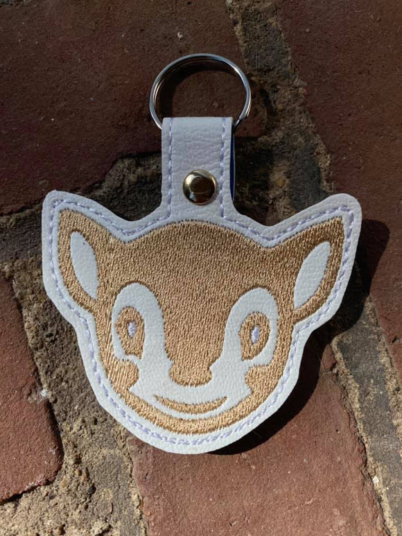 ITH Digital Embroidery Pattern for AC Fauna Snap Tab / Key Chain, 4X4 Hoop