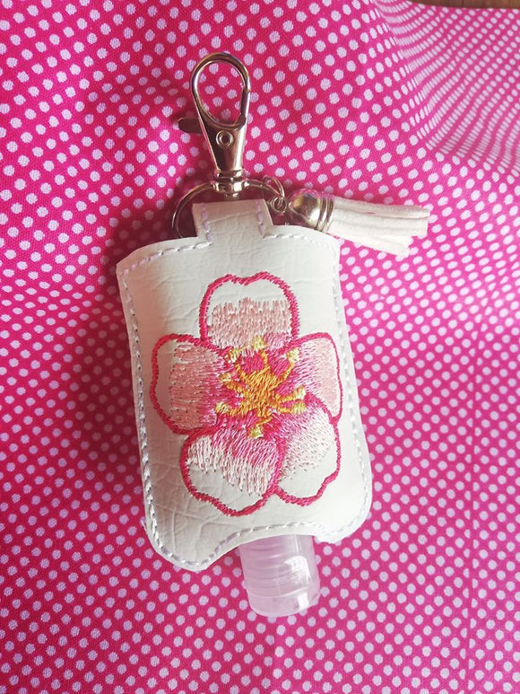 ITH Digital Embroidery Pattern for Cherry Blossom Sanitizer Holder, 5X7 Hoop