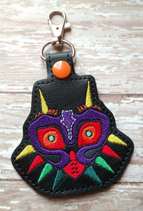 ITH Digital Embroidery Pattern for Majora Mask Snap Tab / Key Chain, 4X4 Hoop