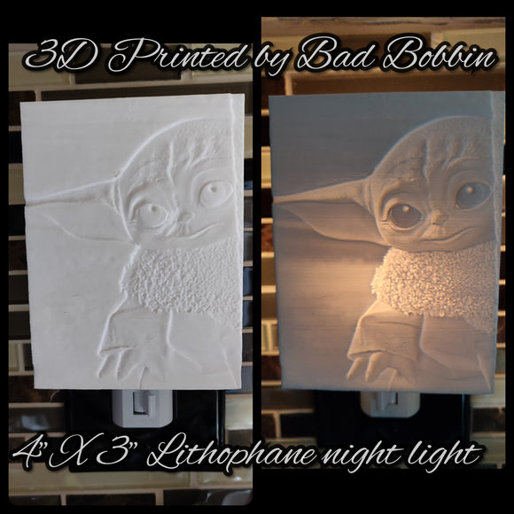 Lithophane Night Light Baby Green