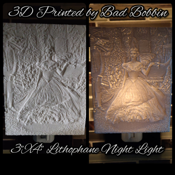 Lithophane Night Light Cinderella Live