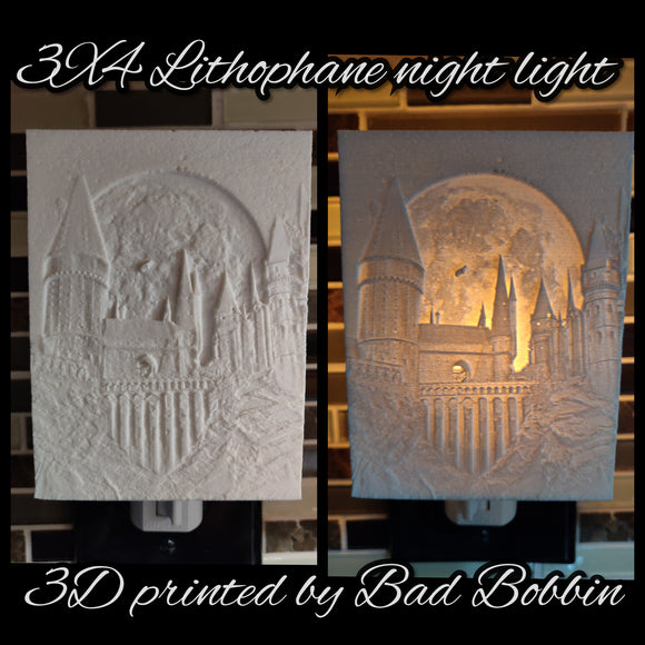 Lithophane Night Light Hogwarts
