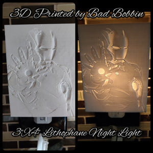 Lithophane Night Light Iron Man
