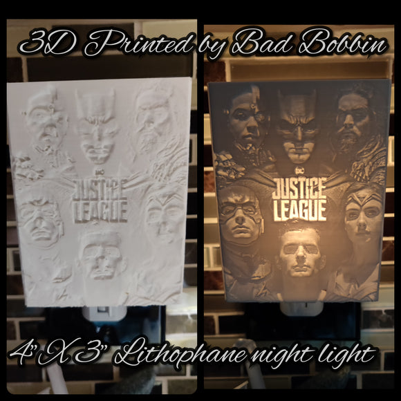 Lithophane Night Light Justice League