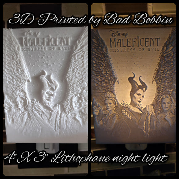 Lithophane Night Light Malif with Queens