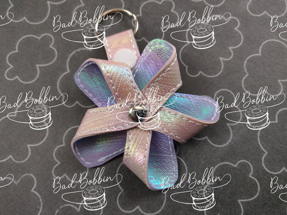 ITH Digital Embroidery Pattern for 3D Pinwheel 5 Point II Snap Tab/ Key Chain, 4X4 Hoop