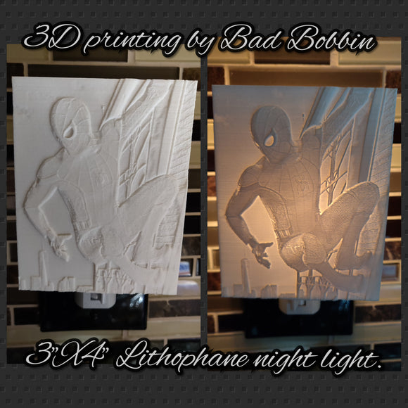 Lithophane Night Light Spiderman