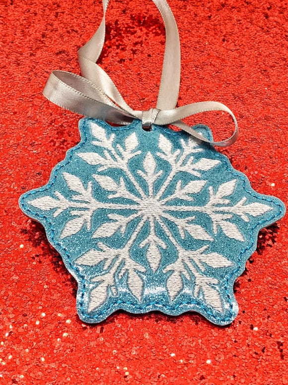 ITH Digital Embroidery Pattern For Snowflake I Ornament, 4X4 Hoop