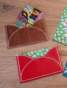 ITH Digital Embroidery Pattern for Envelope Card Holder, ID holder for 4X4 hoop