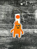 ITH Digital Embroidery Pattern for Lil Monster Snap Tab/Key Chain for 4X4 hoop