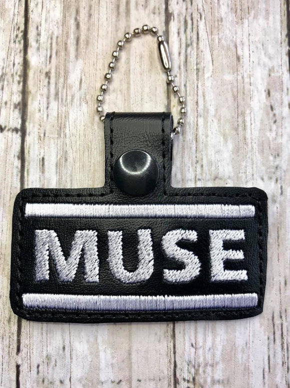 ITH Digital Embroidery Pattern for MUSE Band Snap Tab / Key Chain, 4x4 hoop