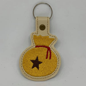 ITH Digital Embroidery Pattern for AC Bag of Bells Snap Tab / Key Chain, 4X4 Hoop