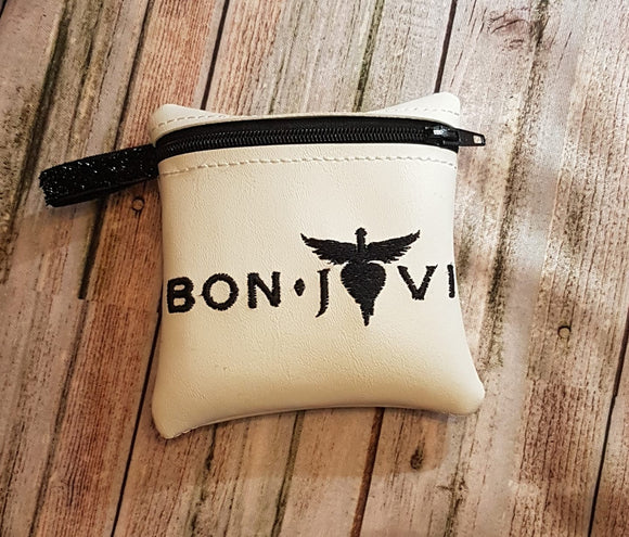 ITH Digital Embroidery Pattern for Band Zip Bag Bon Jovi, 4x4 hoop