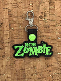 ITH Digital Embroidery Pattern for Rob Zombie Band Snap Tab / Key Chain, 4x4 hoop