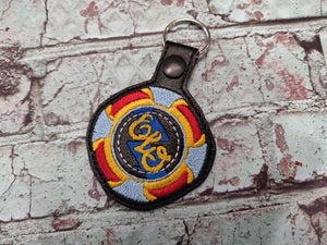 ITH Digital Embroidery Pattern for ELO Band Snap Tab / Key Chain, 4x4 hoop