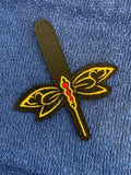 ITH Digital Embroidery Pattern for Dragonfly Snap Tab / Key Chain, 4x4 hoop